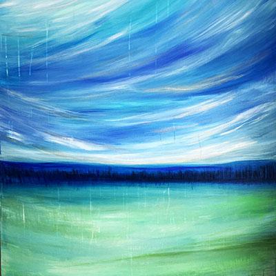 peaceful wide expanse original art meg neufeld